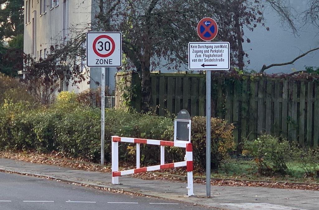 """Anwohnerparkzone in der Siedlung """"Waldidyll"""""""