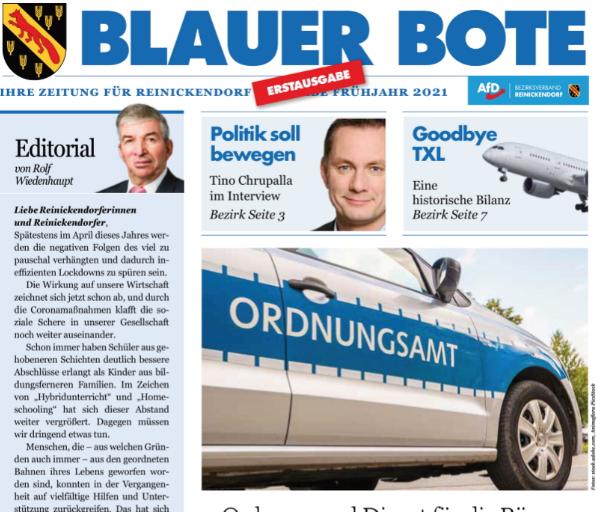 Blauer Bote — Ausgabe Januar2021