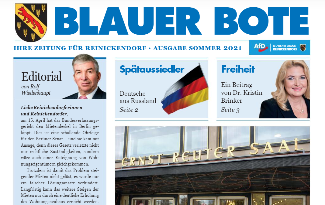 Blauer Bote — Ausgabe Sommer2021